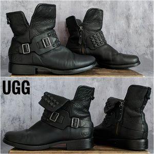 UGG Cybele Stud Monk Strap Moto/Biker boots